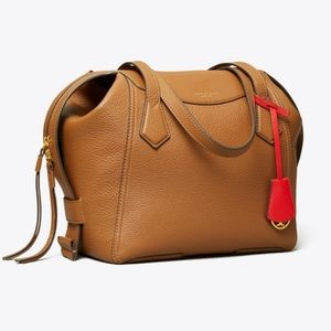 Tory Burch Brown Perry Leather Satchel Bag